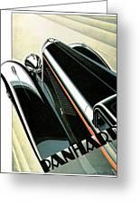 Panhard Car Advertisement Greeting Card