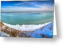 Panning Lake Michigan Greeting Card