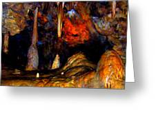 Pano Of A Colorful Cave Greeting Card