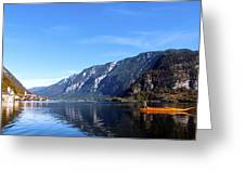 Pano Of A Man With His Fuhr Boat Greeting Card