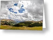 Panorama Atop Independence Pass Greeting Card