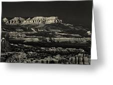 Panorama Bryce Canyon Storm In Black And White Greeting Card