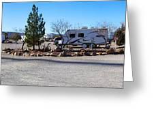 Panorama Cedar Cove Rv Park Street 2 Greeting Card