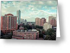Panorama-dt-toronto Looking East Greeting Card