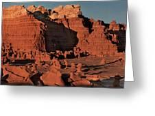 Panorama Hoodoos Goblin Valley Utah Greeting Card