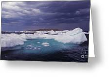 Panorama Ice Floes In A Stormy Sea Wager Bay Canada Greeting Card
