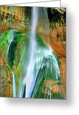 Panorama Lower Calf Creek Falls Escalante Nm Utah Greeting Card