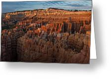 Panorama Of Bryce Canyon Amphitheater Greeting Card