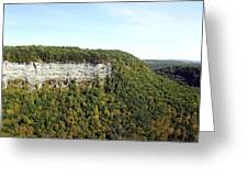 Panorama Of Cliff At Letchworth State Park Greeting Card
