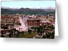 Panorama Of Denver Greeting Card