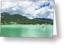 Panorama Of Green Lake, Whistler Greeting Card