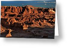 Panorama Of Hoodoos At Sunset Goblin Valley State Park Utah Greeting Card