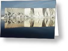 Panorama Of Iceberg Ross Sea Antarctica Greeting Card