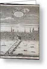 Panorama Of London Greeting Card