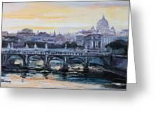 Panorama Of Rome Greeting Card