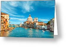 Panorama Of The Basilica Santa Maria Della Salute Greeting Card