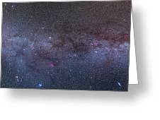 Panorama Of The Northern Milky Way Greeting Card
