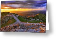 Panorama Of The Tatras In Poland Greeting Card