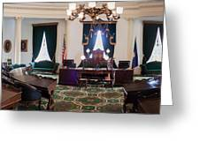 Panorama Of The Vermont State House Montpelier Vermont Greeting Card