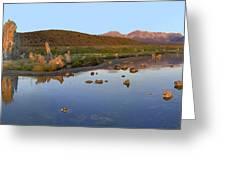 Panorama Of Tufa Towers Mono Lake Greeting Card