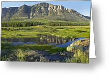 Panorama Of Windy Mountain Wyoming Greeting Card