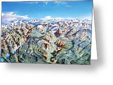 Panorama Of Yosemite Park Greeting Card