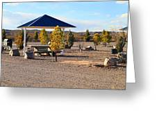 Panorama Outdoor Community Area Greeting Card