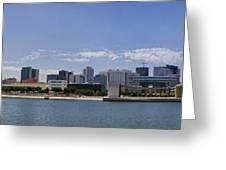 Panorama Over Lisbon Oceanarium Greeting Card