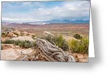 Panorama Point - La Sal Mountains - Arches National Park - Ut Greeting Card