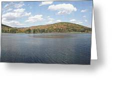 Panorama Red House Lake Allegany State Park Greeting Card