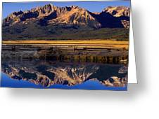 Panorama Reflections Sawtooth Mountains Nra Idaho Greeting Card