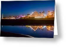 Panorama - Santa Cruz Boardwalk Greeting Card