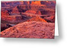 Panorama Sunrise At Dead Horse Point Utah Greeting Card