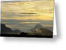 Panorama Sunset Aparaman And Towyen Tepuis Kavak Venezuela Greeting Card