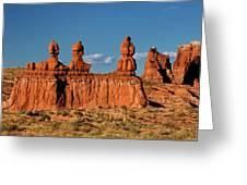 Panorama Three Sisters Hoodoo Goblin Valley Utah Greeting Card