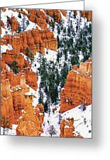 Panorama Winter Storm Blankets Thors Hammer And Bryce Canyon Greeting Card