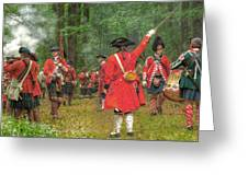 Panoramic Battle Of Bushy Run Greeting Card