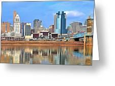 Panoramic Cincinnati Greeting Card