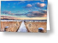 Panoramic Crooked Lake Greeting Card