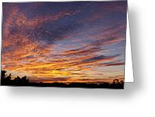 Panoramic Hill Country Sunset Greeting Card