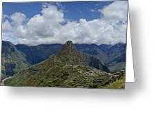 Panoramic Machu Picchu Greeting Card