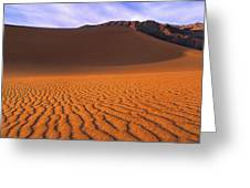 Panoramic Mesquite Sand Dune Patterns Death Valley National Park Greeting Card