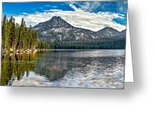 Panoramic Of Anthony Lake Greeting Card