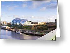 Panoramic Of Newcastle And Gateshead Quayside Greeting Card