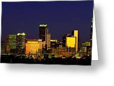 Panoramic Skyline Charlotte Nc Greeting Card by Patrick Schneider