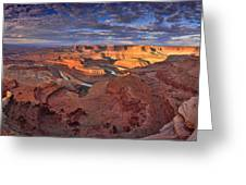 Panoramic Sunrise Over Dead Horse Point State Park Greeting Card