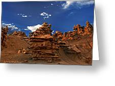 Panoramic Sunset Light On Sandstone Formations Fantasy Canyon  Greeting Card