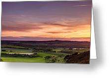 Panoramic Sunset Over England Greeting Card