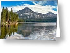 Panoramic View Of Anthony Lake Greeting Card