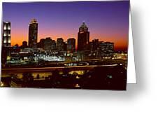 Panoramic View Of Atlanta Skyline Greeting Card